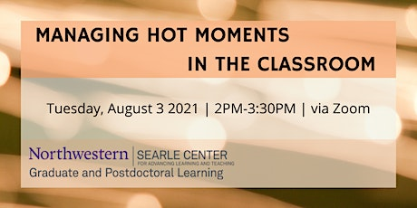 Managing Hot Moments in the Classroom tickets