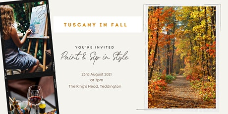 """Paint & Sip Party """"Tuscany In Fall"""" tickets"""