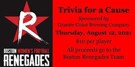 Trivia for a Cause: Boston Renegades Women's Football tickets