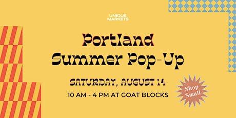 Unique Markets Portland Summer 2021 Pop-Up tickets