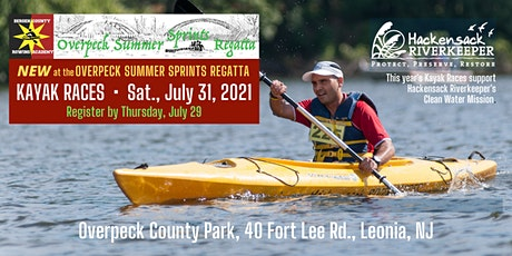 Kayak Races at the  OVERPECK SUMMER SPRINTS REGATTA tickets