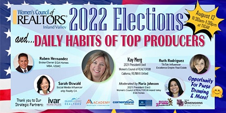 2022 Election of Officers as well as a Daily Habits of Top Producers billets