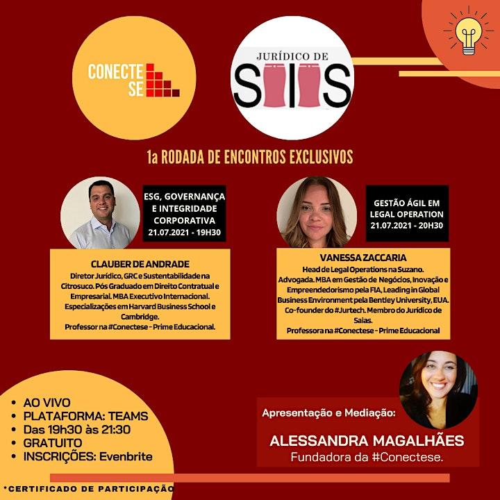 Imagem do evento 1a. RODADA DE ENCONTROS EXCLUSIVOS - JURÍDICO DE SAIAS x #CONECTESE