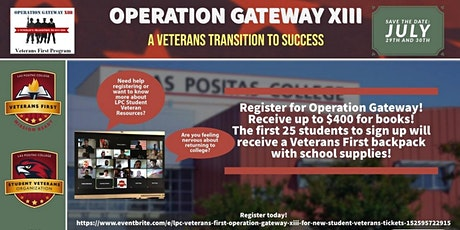 LPC Veterans First - Operation Gateway XIII for New Student Veterans tickets