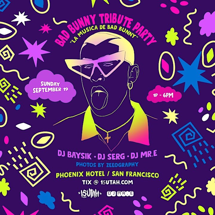 Bad Bunny Tribute Party - Poolside Day Party image