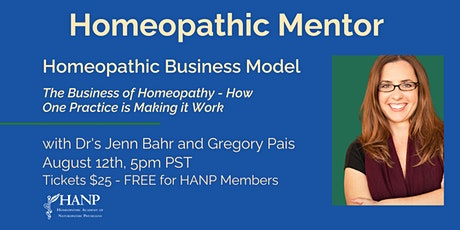 Homeopathic Mentor -  Homeopathic Business Model with Dr's Bahr and Pais tickets