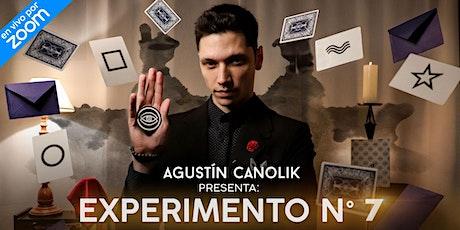 Agustín Canolik presenta: Experimento N°7 entradas