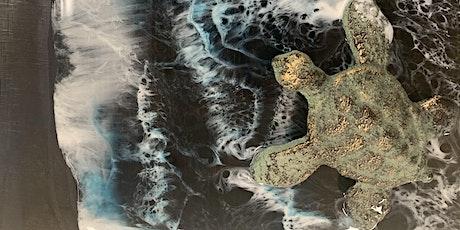 Honu in Black Sand Resin- Enchanted Lake tickets
