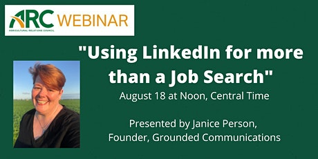 ARC Webinar: Using LinkedIn for more than a Job Search tickets