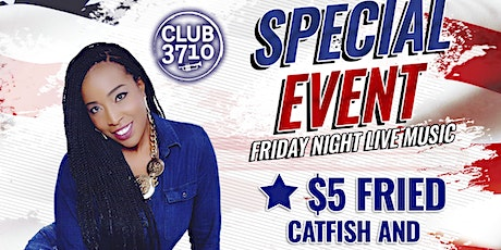 Free Event Friday Night Live Music - Club 3710 Band ft. Tia, Curlen Crump. tickets
