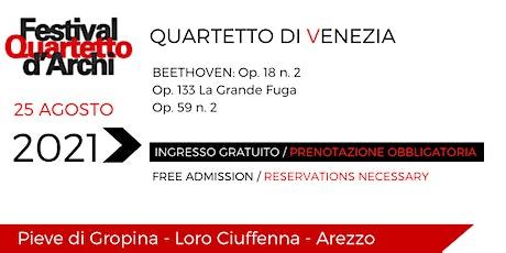 27° Festival del Quartetto d'Archi - Quartetto di Venezia biglietti