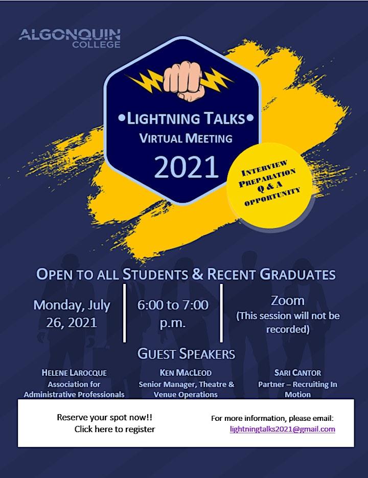 Lightning Talks 2021 image