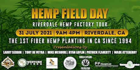 Fiber Hemp Field Day and Riverdale Hemp Factory Tour tickets