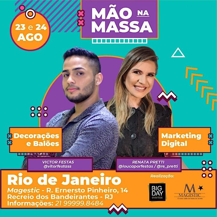 Imagem do evento Mão na Massa RJ - Renata Pretti e Victor Festas