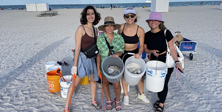 Fun Beach Day - Yoga, Paddle Out, Beach Cleanup and more image