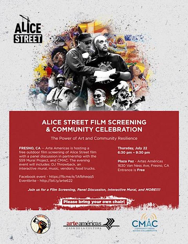 Alice Street Film Screening & Community Celebration image