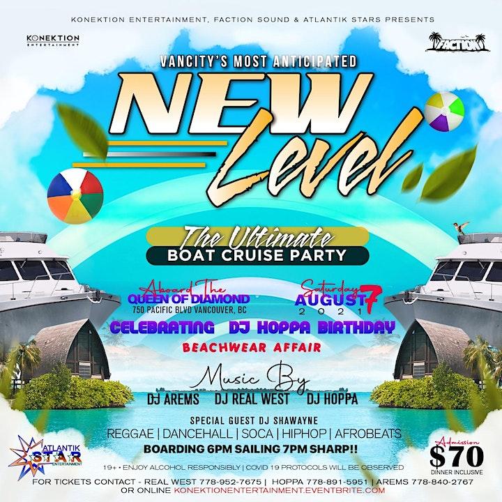 New Level Boat Cruise Beachwear Affair (DJ Hoppa's Birthday Celebration) image