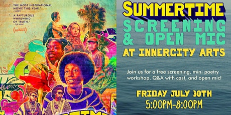 Free Screening of Summertime + Open Mic tickets