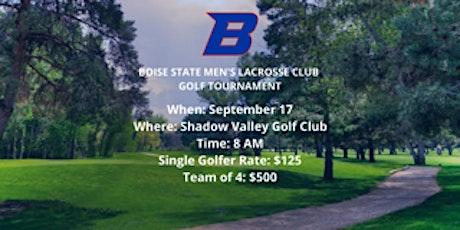Boise State Men's Lacrosse Golf Tournament tickets