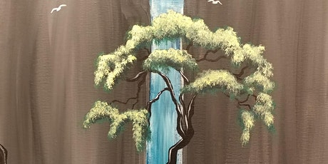 """Paint Party at Bike Dog Brewing Co. with Creatively Carrie! """"Bonsai Bridge"""" tickets"""