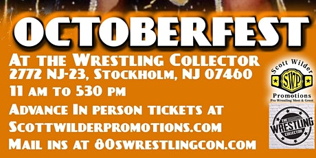 OCTOBERFEST AT THE WRESTLING COLLECTOR tickets