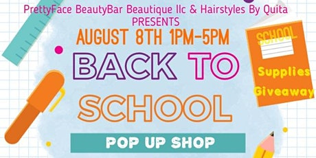 VENDORS WANTED:Back To School Pop Up Shop Giveaway tickets