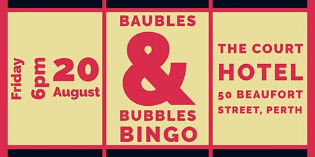 Baubles and Bubbles Bingo tickets