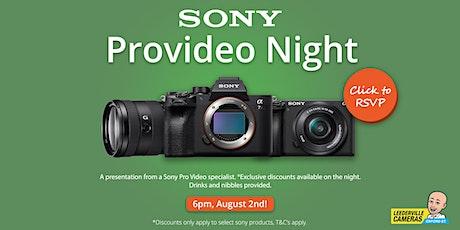 Sony Provideo Night tickets