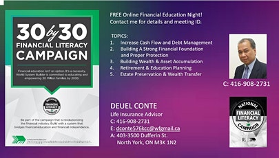 30 by 30 Financial Education Campaign tickets