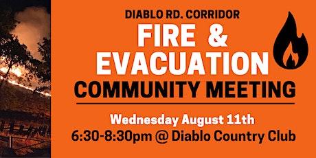 Diablo Rd Corridor Fire Safety Meeting tickets