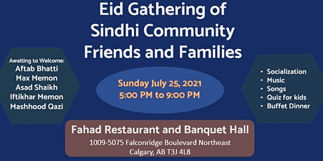 Eid Gathering of Sindhi Community Friends and Families tickets