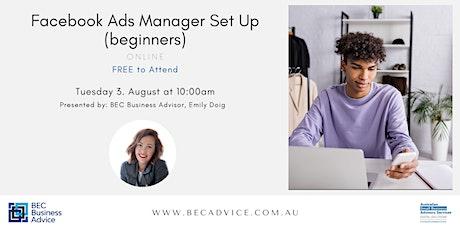Facebook Ads Manager Set Up (beginners) biglietti