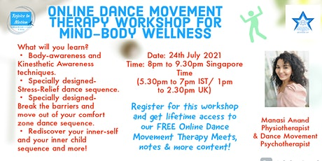 Online Dance Movement Therapy Workshop for Mind-Body Wellness tickets