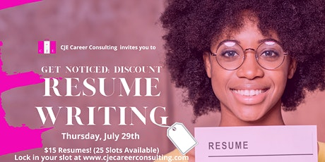 Get Noticed: Discount Resume Writing Day tickets