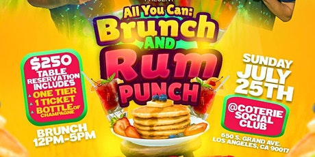 ALL YOU CAN: Brunch And Rum Punch tickets