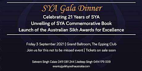 SYA Gala Dinner tickets