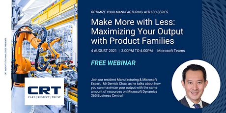 Make More with Less: Maximizing Your Output with Product Families tickets