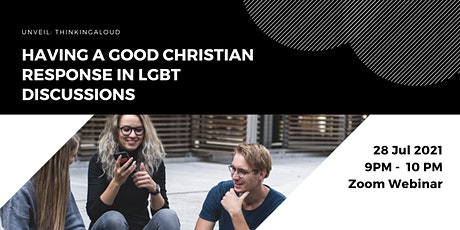 Having a good Christian response in LGBT discussions tickets