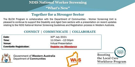 NDIS Worker Screening - What's New tickets