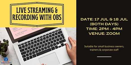 Live Streaming & Recording with OBS tickets