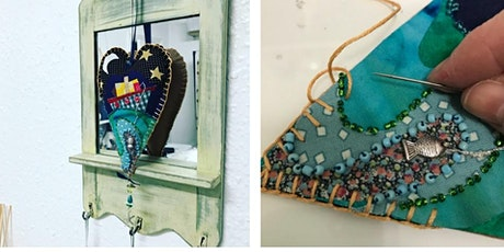 Creative sewing Workshop with Vintage Textiles - picture hearts tickets