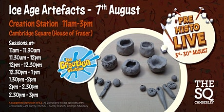 Ice Age Artefacts - Creation Station -  Saturday 7th August tickets