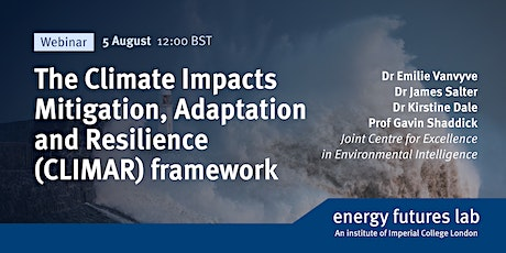 The Climate Impacts Mitigation, Adaption and Resilience (CLIMAR) framework tickets