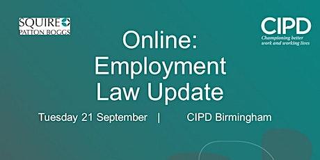Online: Employment Law Update tickets