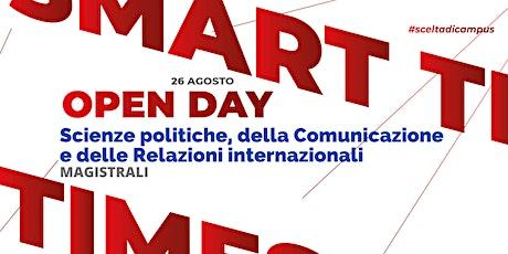 MAGISTRALI, Scienze politiche, Comunicazione e  Relazioni internazionali biglietti