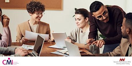 CMI Level 3 Business Coaching & Mentoring  Programme tickets