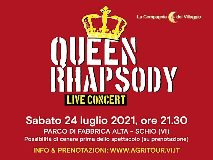 Immagine Festa al tramonto  e Spettacolo  Queen Rhapsody con la CdV