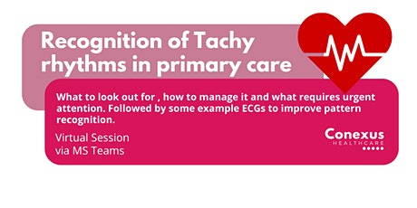Recognition of Tachy rhythms in primary care tickets