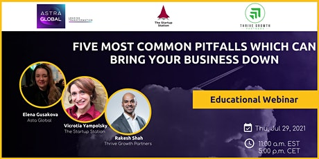 Five most common pitfalls which can bring your business down tickets