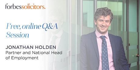 Employment & HR Live Q&A Session tickets